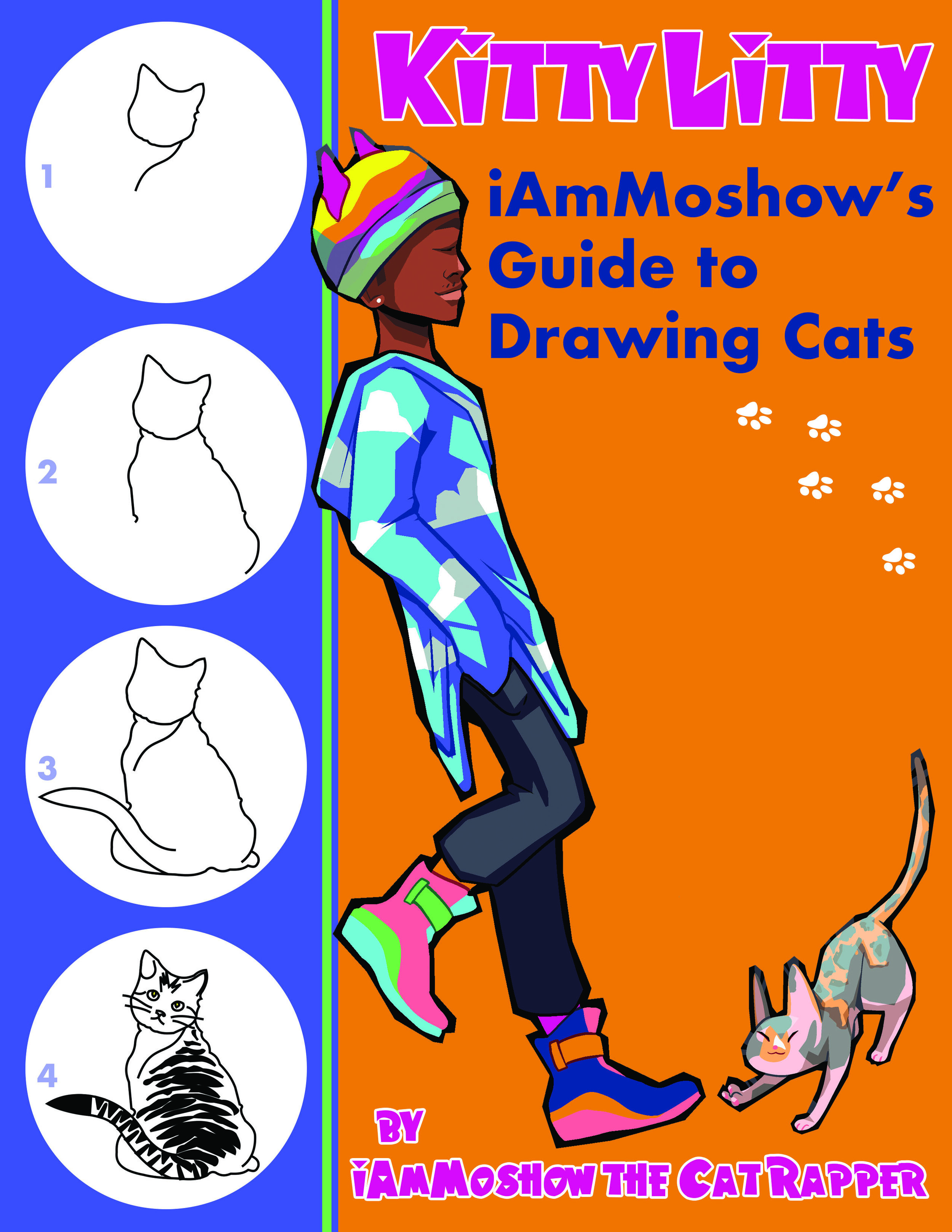 NEW ReLEASE… - Drawing cats is so much fun! iAmMoshow's Guide to Drawing Cats takes the mystery out of learning to draw. Check out these step-by-step instructions so you can learn to draw your favorite cat breeds. Each lesson starts with an easy-to-draw shape that becomes the foundation for the drawing. From there, the artist progressively enhances their drawing with each step, soon revealing a well-crafted cat illustration! Budding artists of any age will benefit from Moshow's instruction.