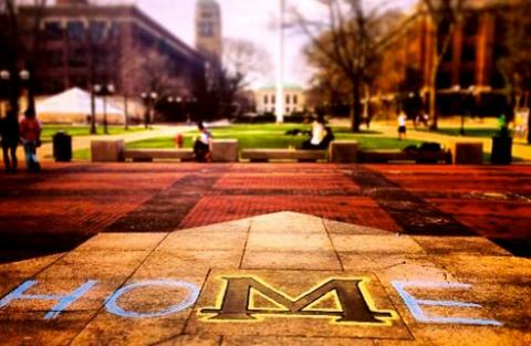 The infamous Diag at the University of Michigan Campus, courtesy of  Campus Life