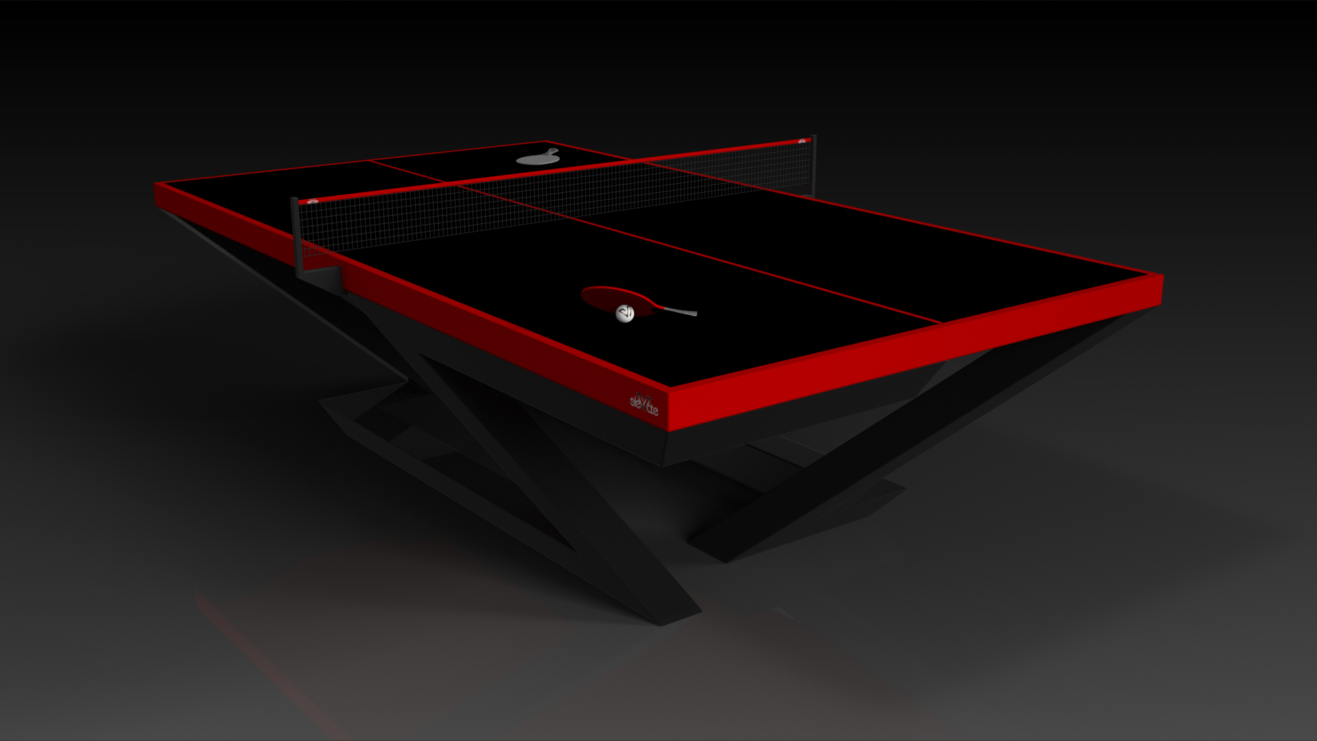 Finally. You can  design your own luxury ping pong table .