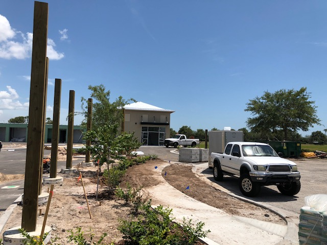 View of Main Office / Landscape install