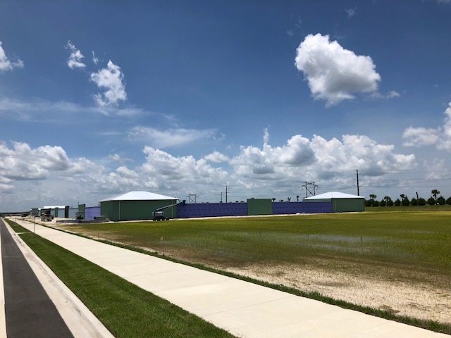 View from north outside the facility.