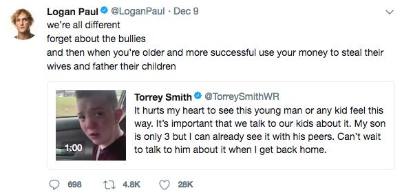 Logan Paul Tweet