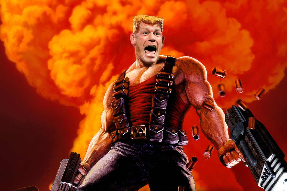 John Cena as Duke Nukem