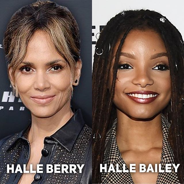 Just wanted to clear this up... Halle Berry is an Academy Award winning actress known for her roles in such films as Monsters Ball and X Men. Halle BAILEY was recently cast as Ariel in Disney's live action adaptation of the Little Mermaid. Hope that helps. . . #halleberry #hallebailey #disney #ariel #littlemermaid #movie #movies #nerd #geek #theyaredifferentpeople
