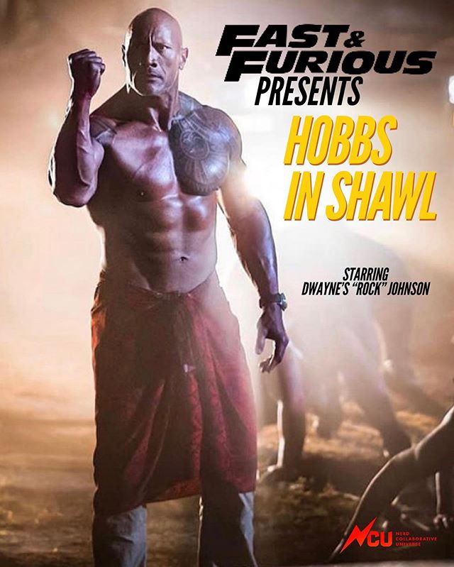 Who's seen the first, Fast spinoff? . . #dwaynejohnson #therock #hobbsandshaw #lukehobbs #shawl #meme #funny #fastandfurious #thefastandthefurious #movie #parody @therock