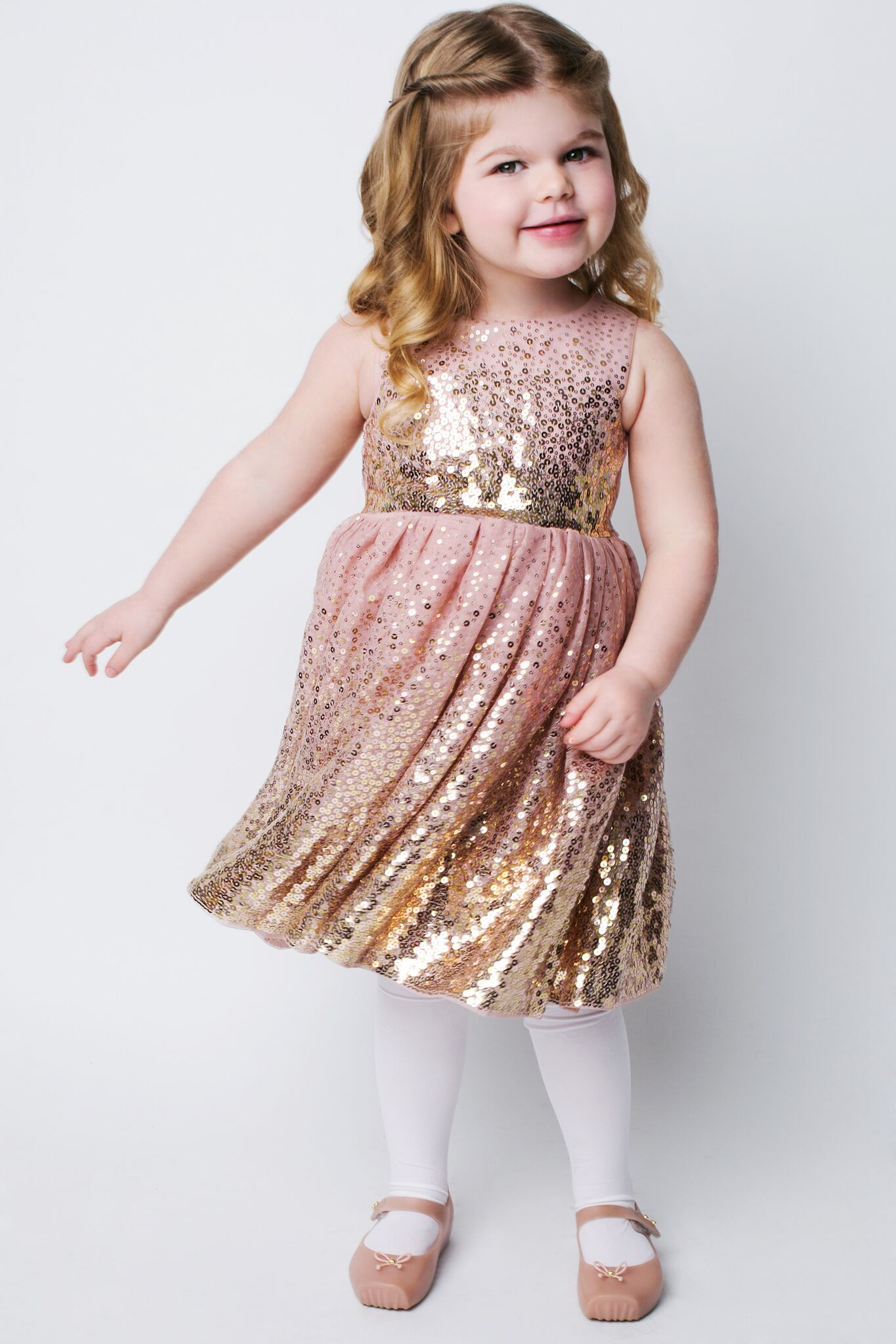 My daughter, she's all about sparkles and pink!