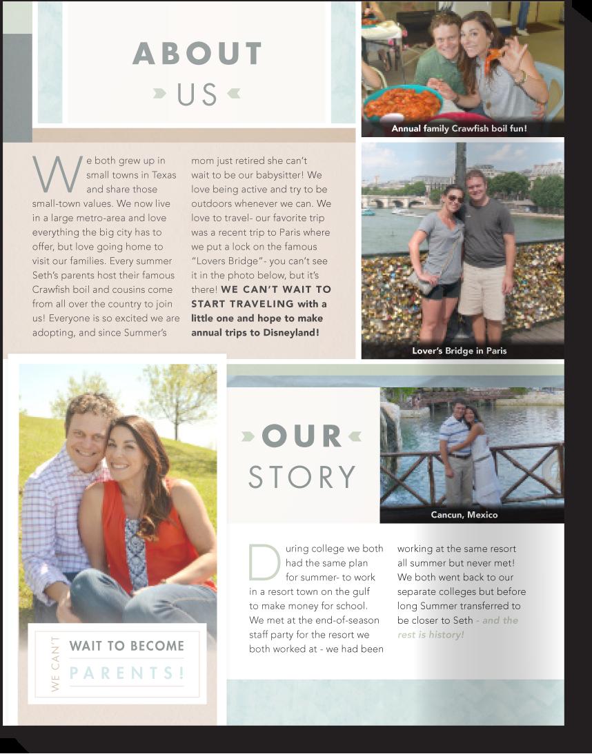 Our Chosen Child Template B Adoption Profile Design Book