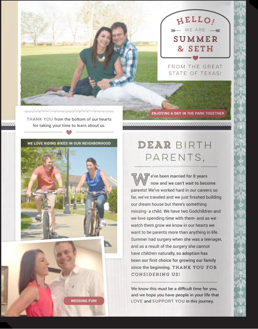 Our Chosen Child Template C Adoption Profile Design Book