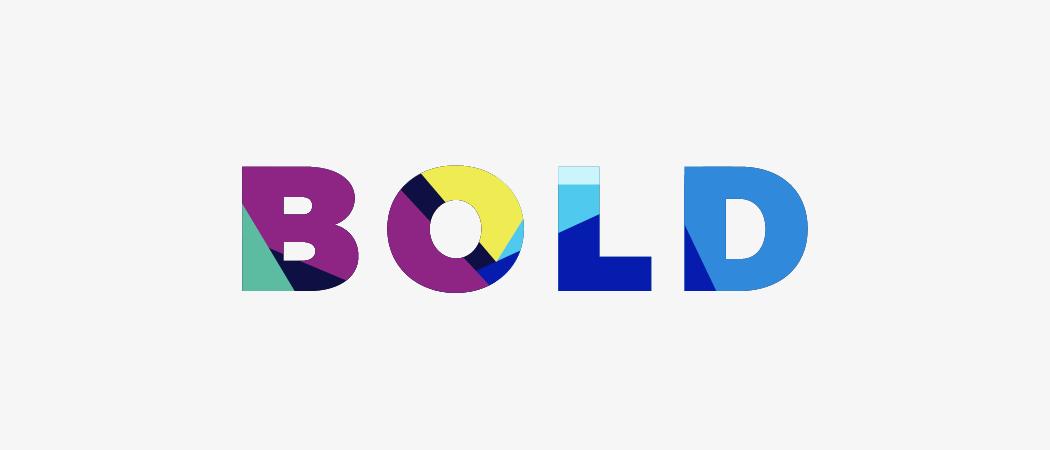 bold color scheme