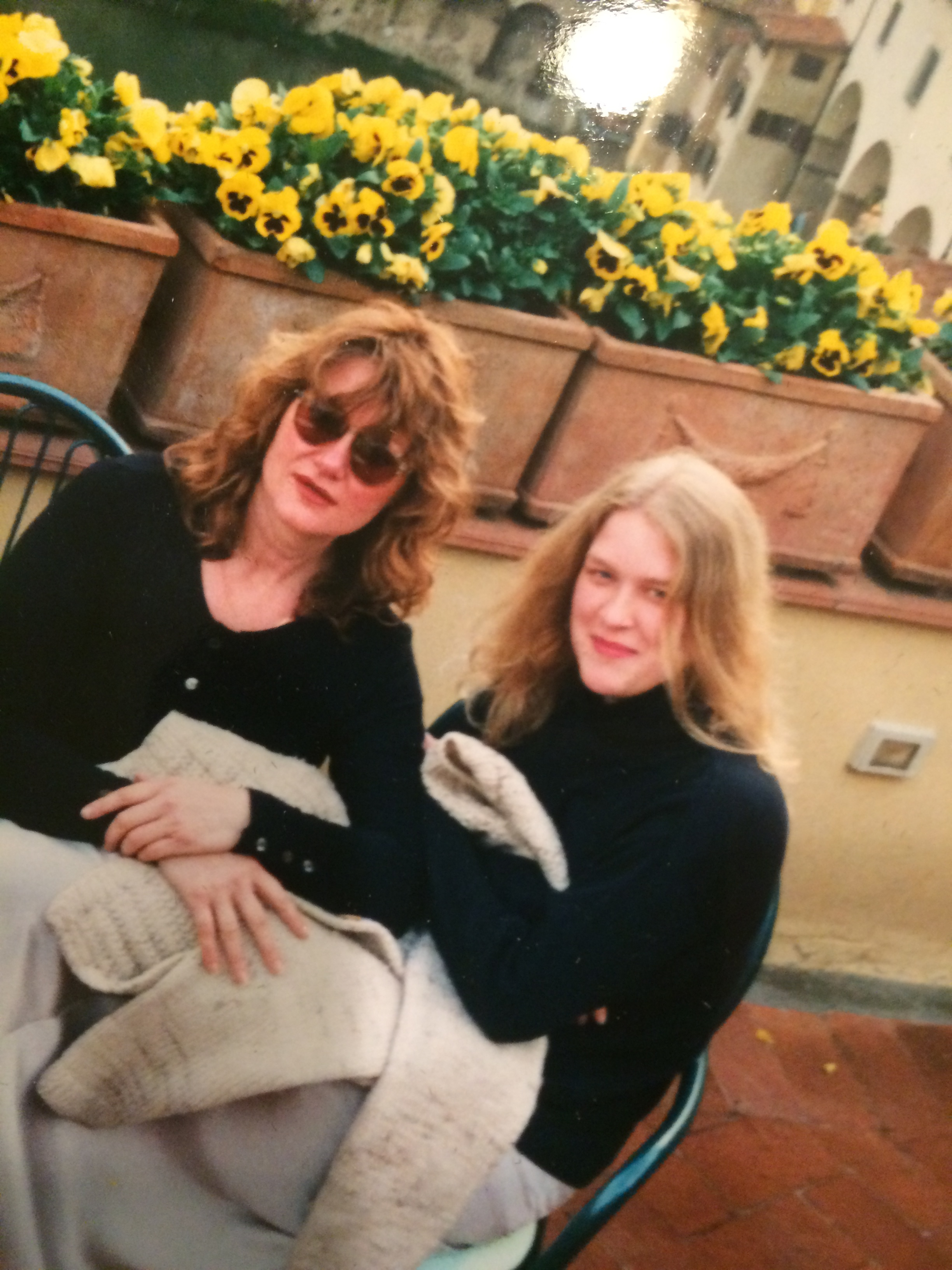 Me and my mom in Florence circa 1994. She's a fox, right?