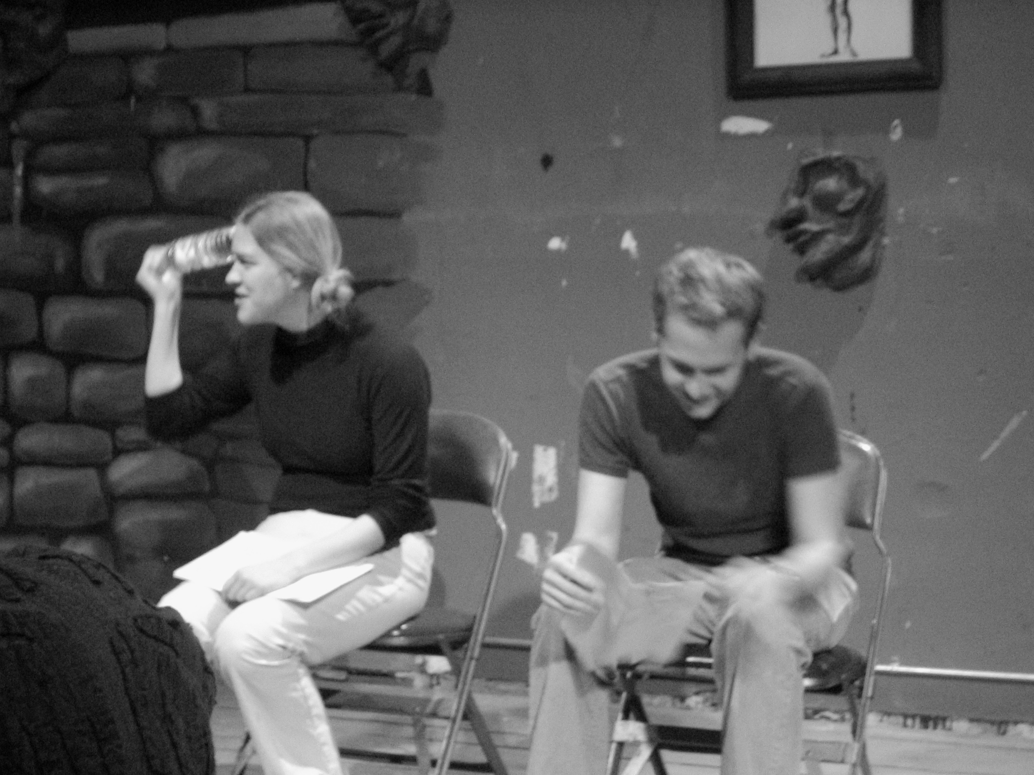 Me and Lott, 2000-ish.We are teaching something, I think? I am hitting myself in the head with a water bottle?