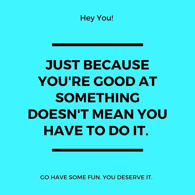 Happy Friday friends! Sometimes we just need this reminder. Being good at something doesn't mean it brings you joy. I hope you do something fun this weekend . . . . #humanbeingnothumandoing #fridayfacts #dowhatbringsyoujoy #tgif #loveasheville #connectbeyond2019