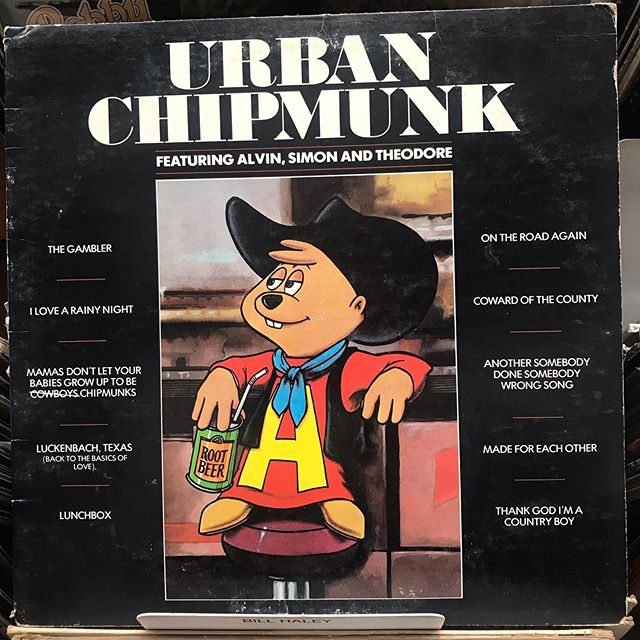 "I was going thru the used soundtrack bin and had just said, ""If I find the Urban Cowboy soundtrack I'm buying it."" And then I found this... . . . #vinyl #records #recordstore #travel #travelgram #instatravel #music #lagunabeach #california #beachvibes #ontheroadagain #kidsmusic #alvinandthechipmunks"