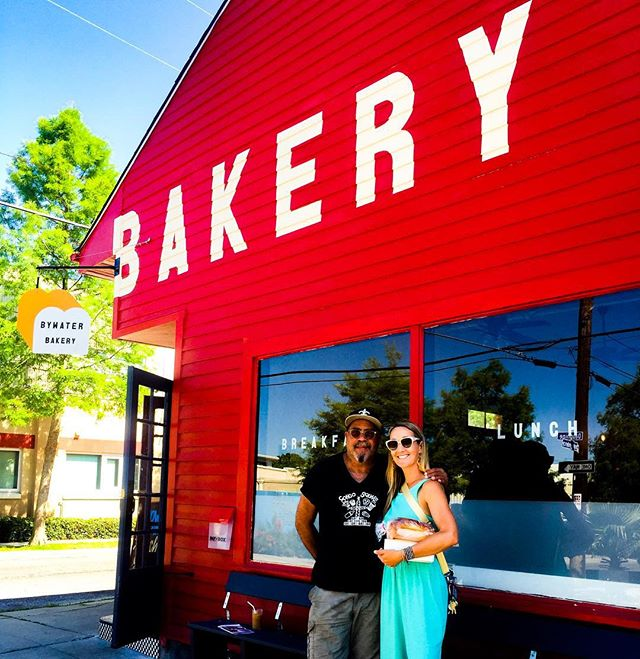 #cake cake cake!!! Heard about the #kingcake but only got through a slice of coconut vanilla with sprinkles + a cup of #coastroastcoffee @bywaterbakerynola - Thanks Alton to you and Chaya for opening a neighborhood gem! #wifi #bakery #nola #bywater