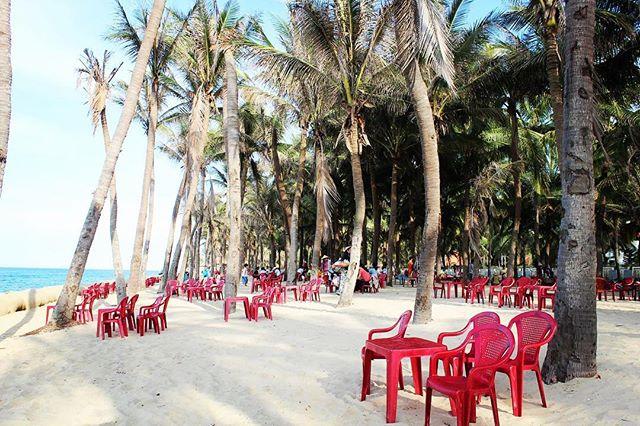 Lots of empty chairs on the beach = peace and quiet 🙌 #hoian #vietnam #beachlife #beautifulbeaches #travel #wanderlust #adventure #hoianbeach #hộian #ifollowback #f4f #followforfollow