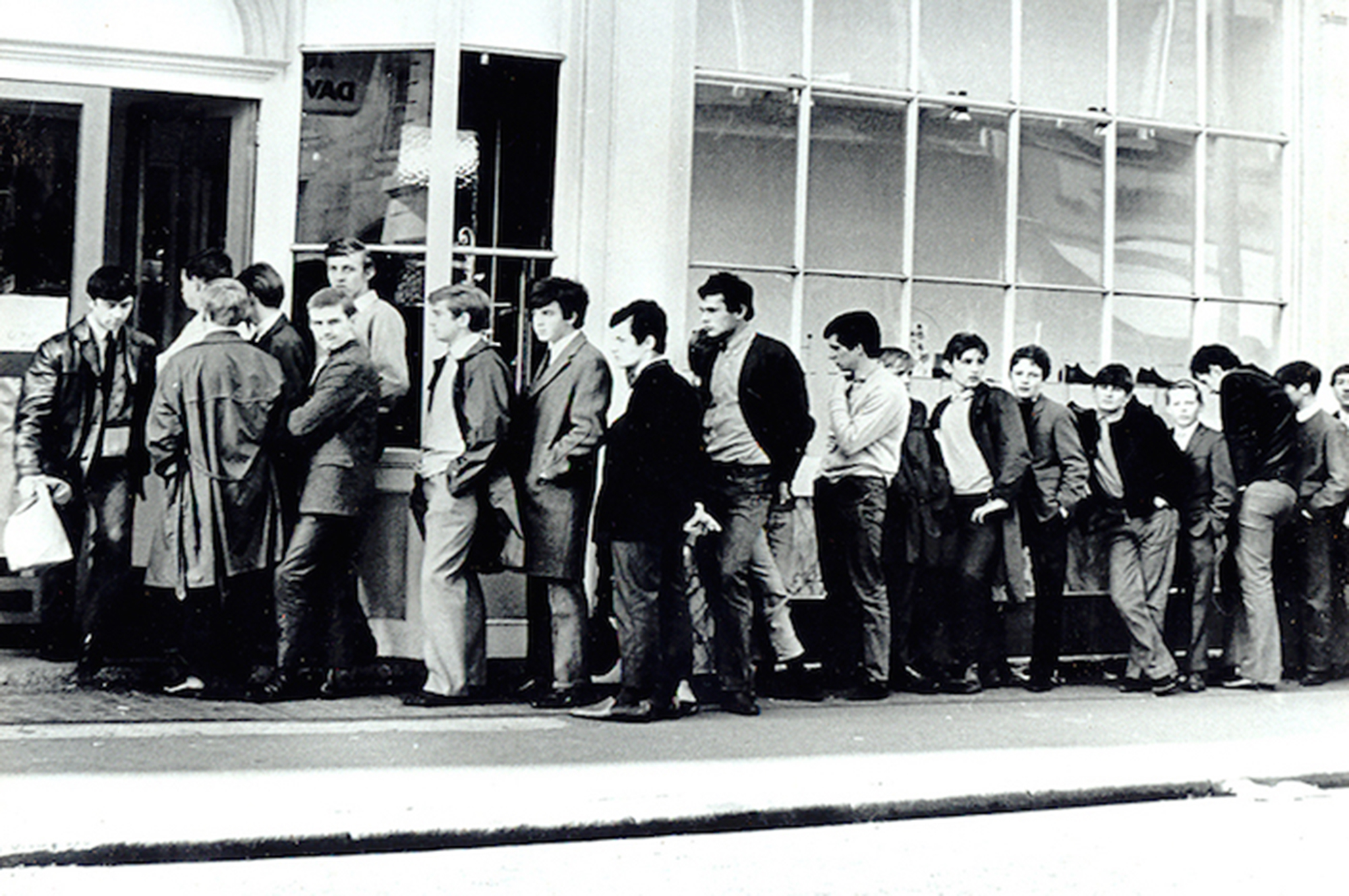 Customers queuing for the iconic 'Beatle boot' at Anello & Davide (1961) - Image courtesy of Anello & Davide   www.handmadeshoes.co.uk