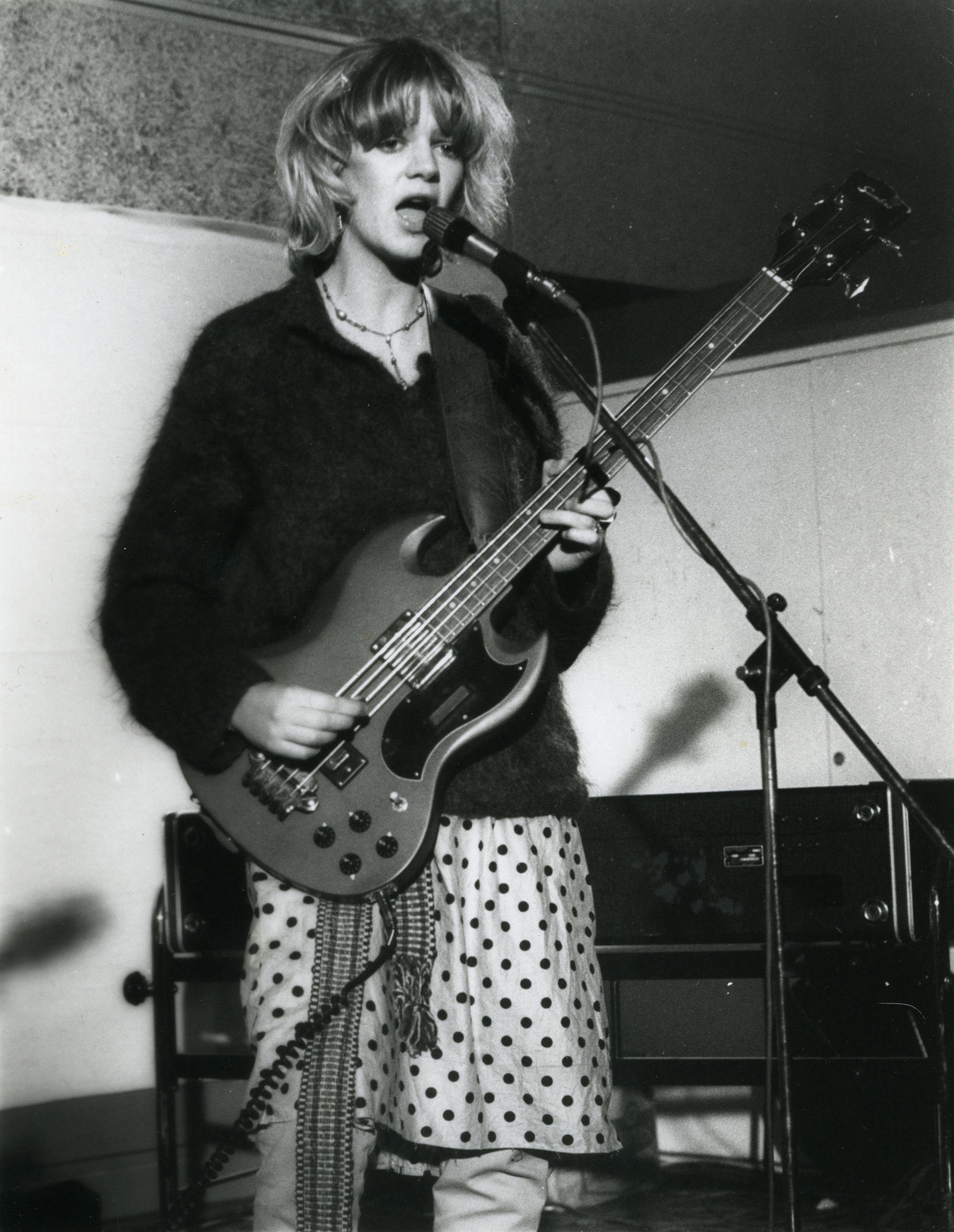 Gina Birch of The Raincoats shot by Shirley O'Loughlin (1979) - Image courtesy of Shirley O'Loughlin for Homesick Magazine Issue #3   www.theraincoats.net