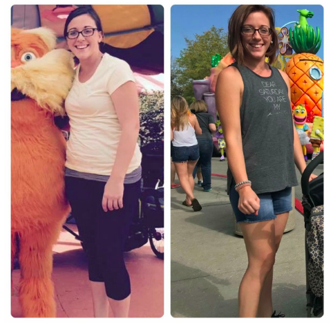 (2017 vs 2018  - I lost 50lbs and put on some muscle after working out for a year)