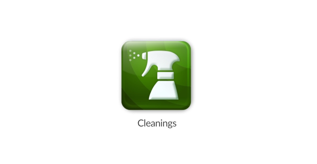 The new Cleanings App icon in the app switcher