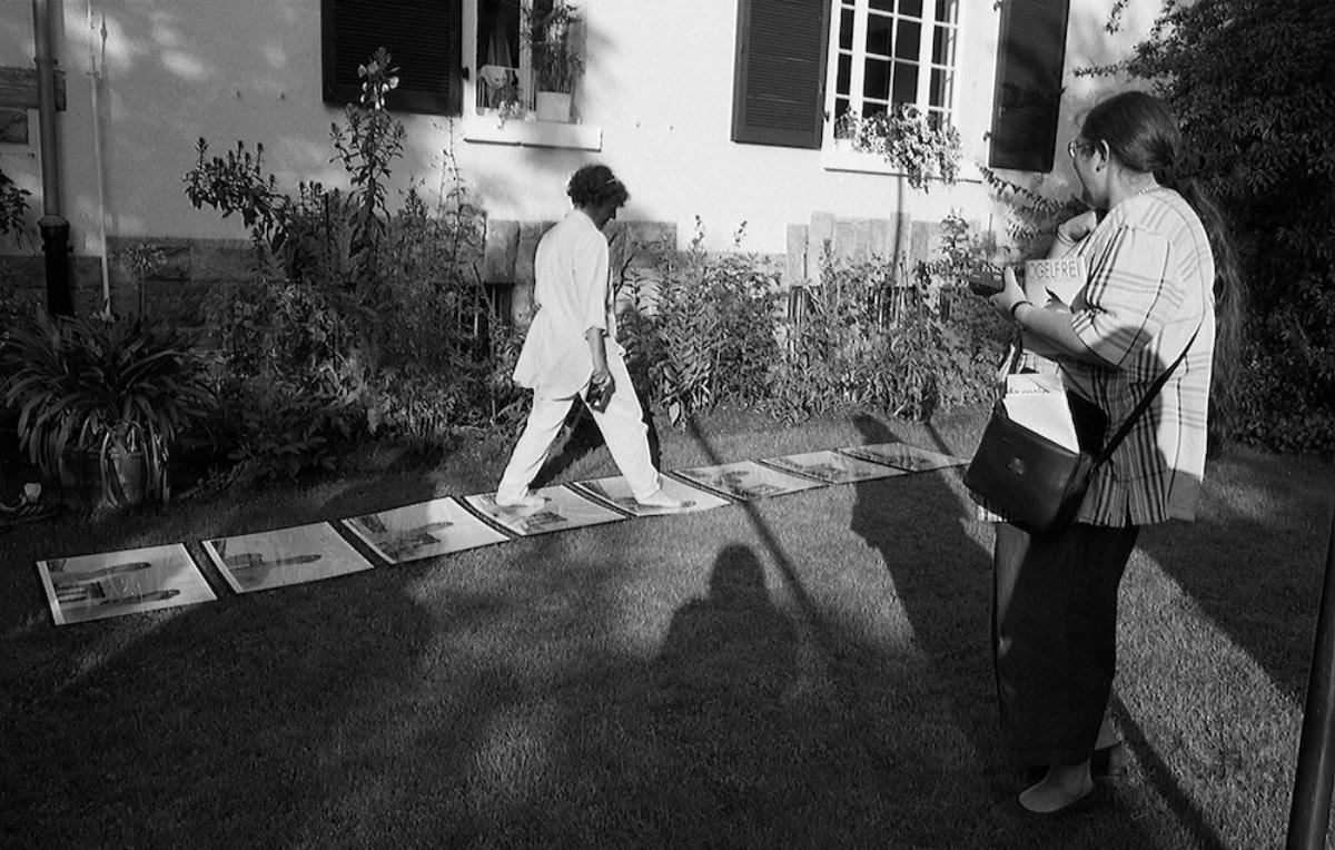 Footpath Mosaic, Vogelfrei Art Festival, Darmstadt, Germany,