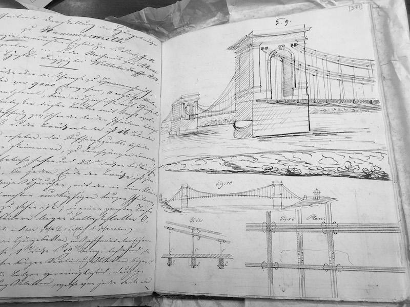 John Roebling's Student Sketchbook, rutger's university