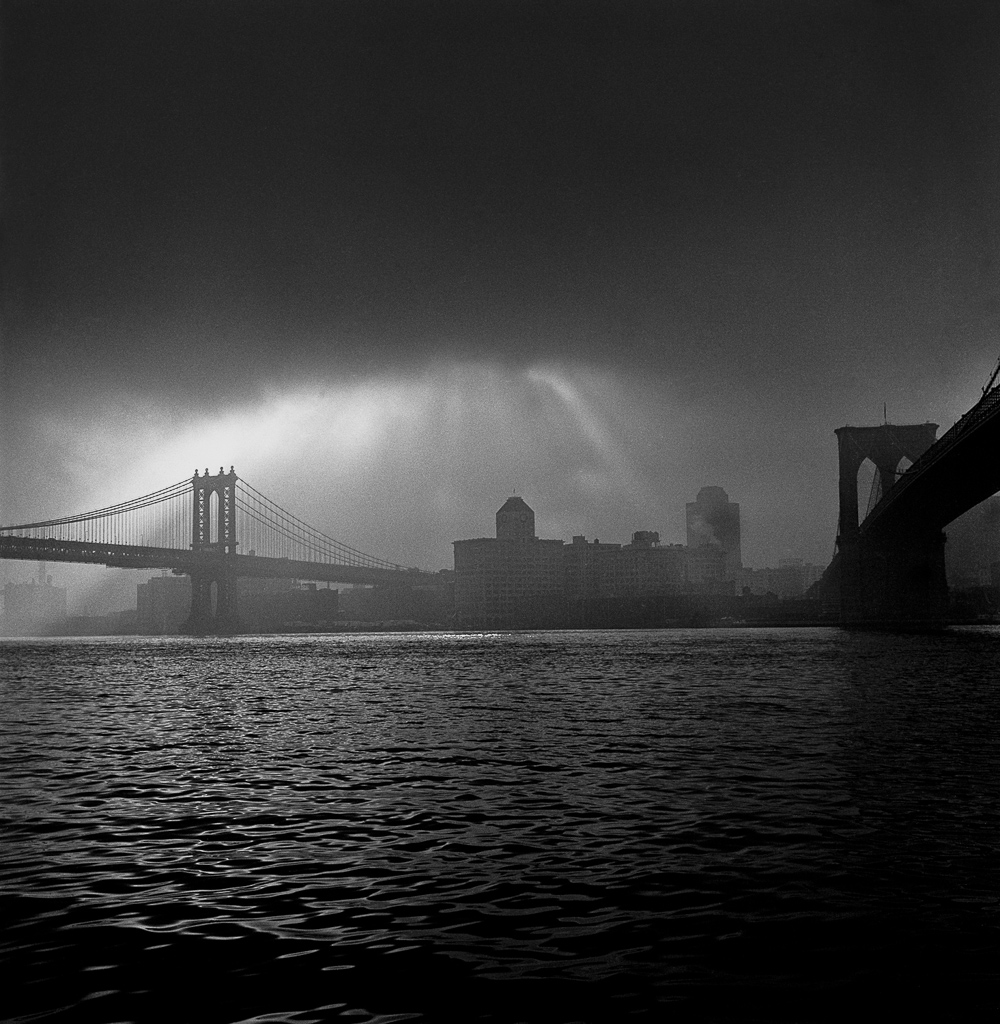 East river in storm