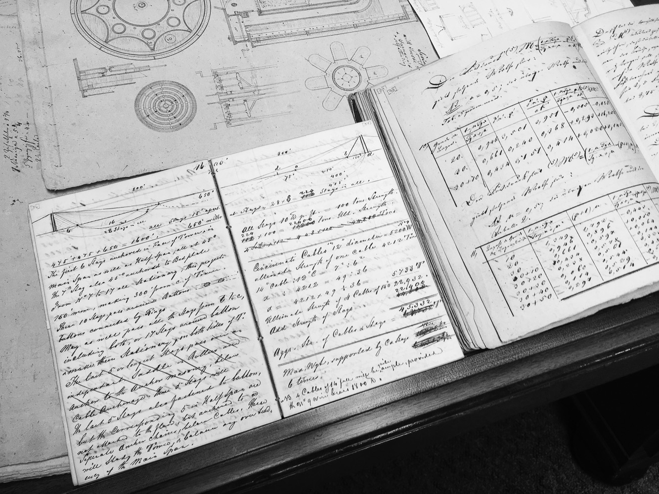 John roebling's notebooks, rutgers university