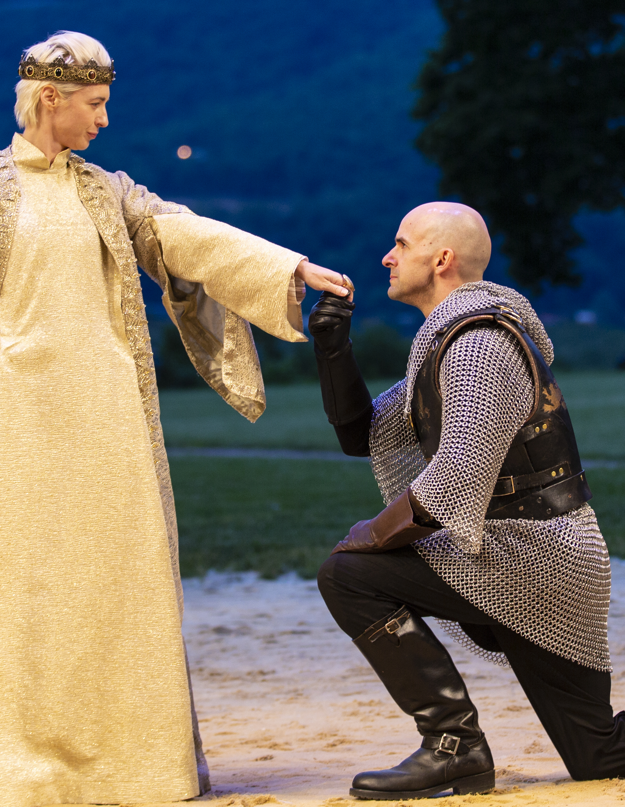 with Julia Coffey as Richard II