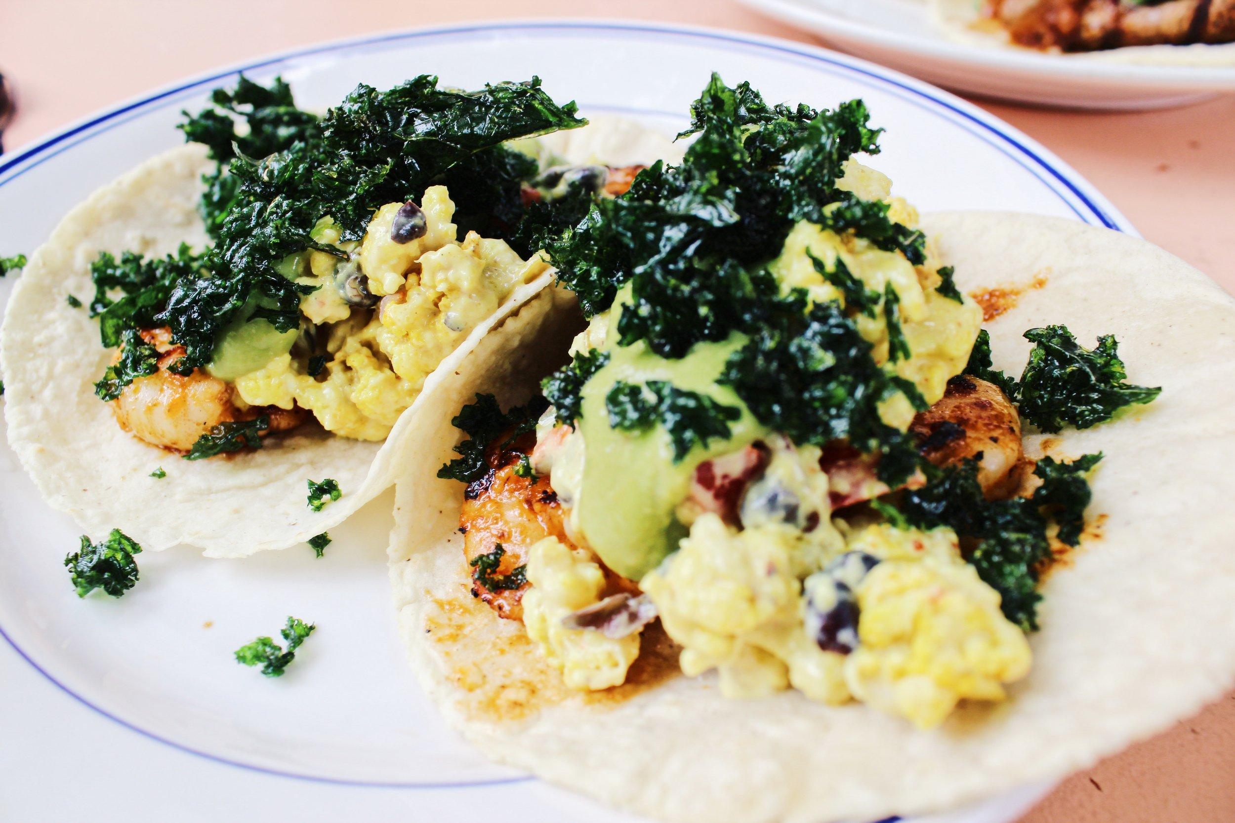Garlic Shrimp Tacos.
