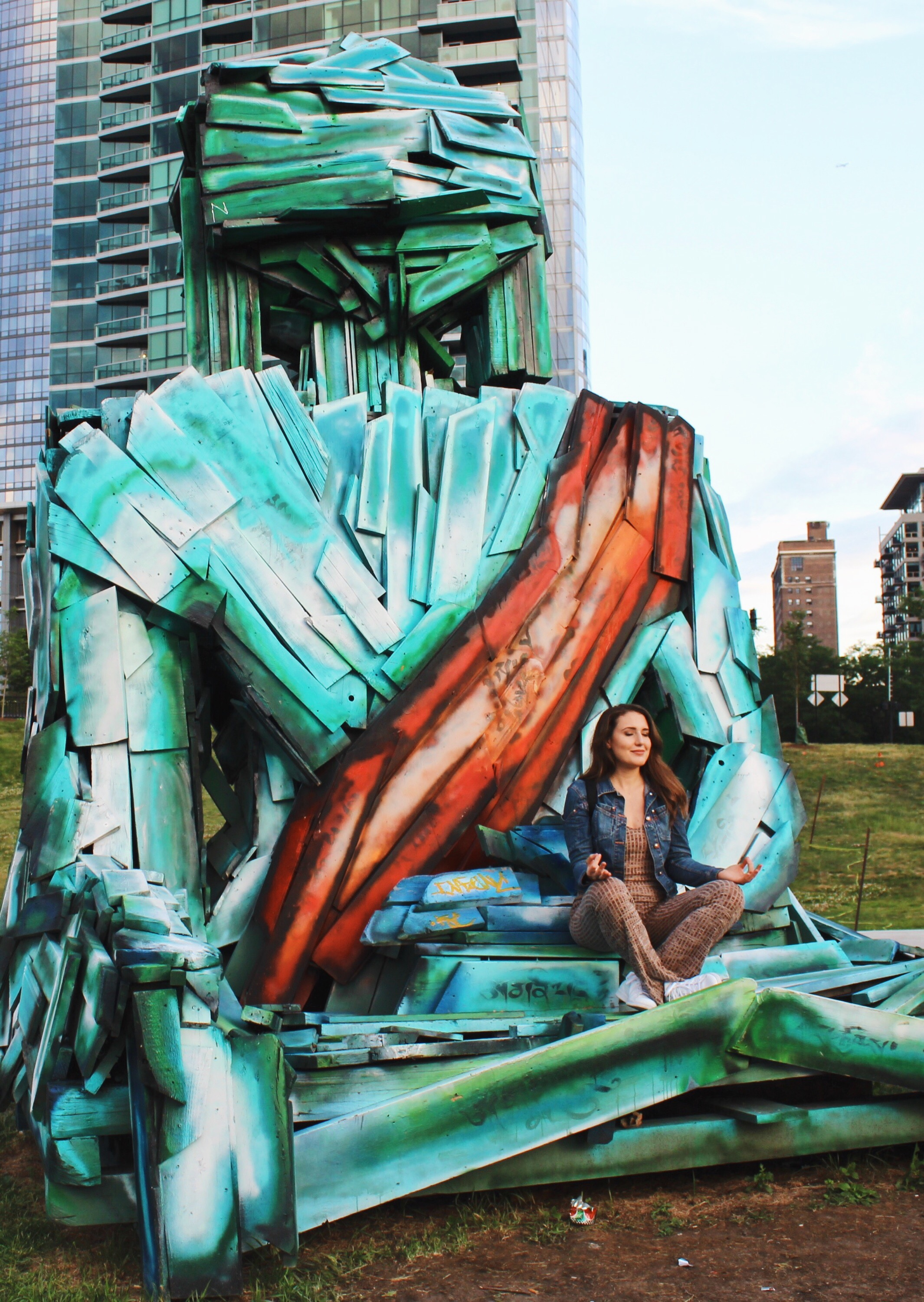 """Grant Park's latest edition is """"Urban Buddha,"""" a 15-foot-tall effigy meant to send a message about global deforestation designed by Tibetan artist Tashi Norbu."""