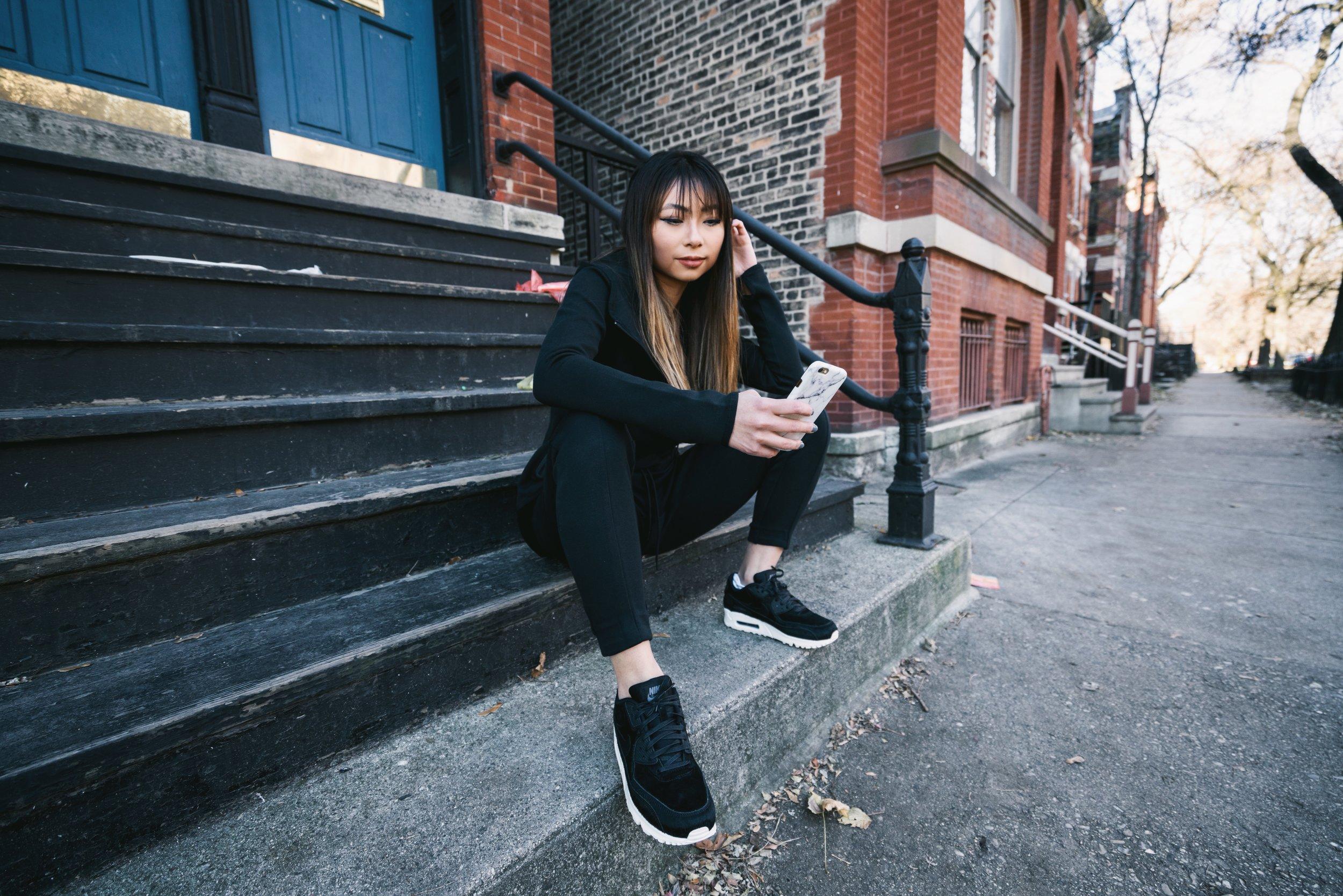 Ginger wears Sportswear Tech Fleece Women's Pants,  Nike .