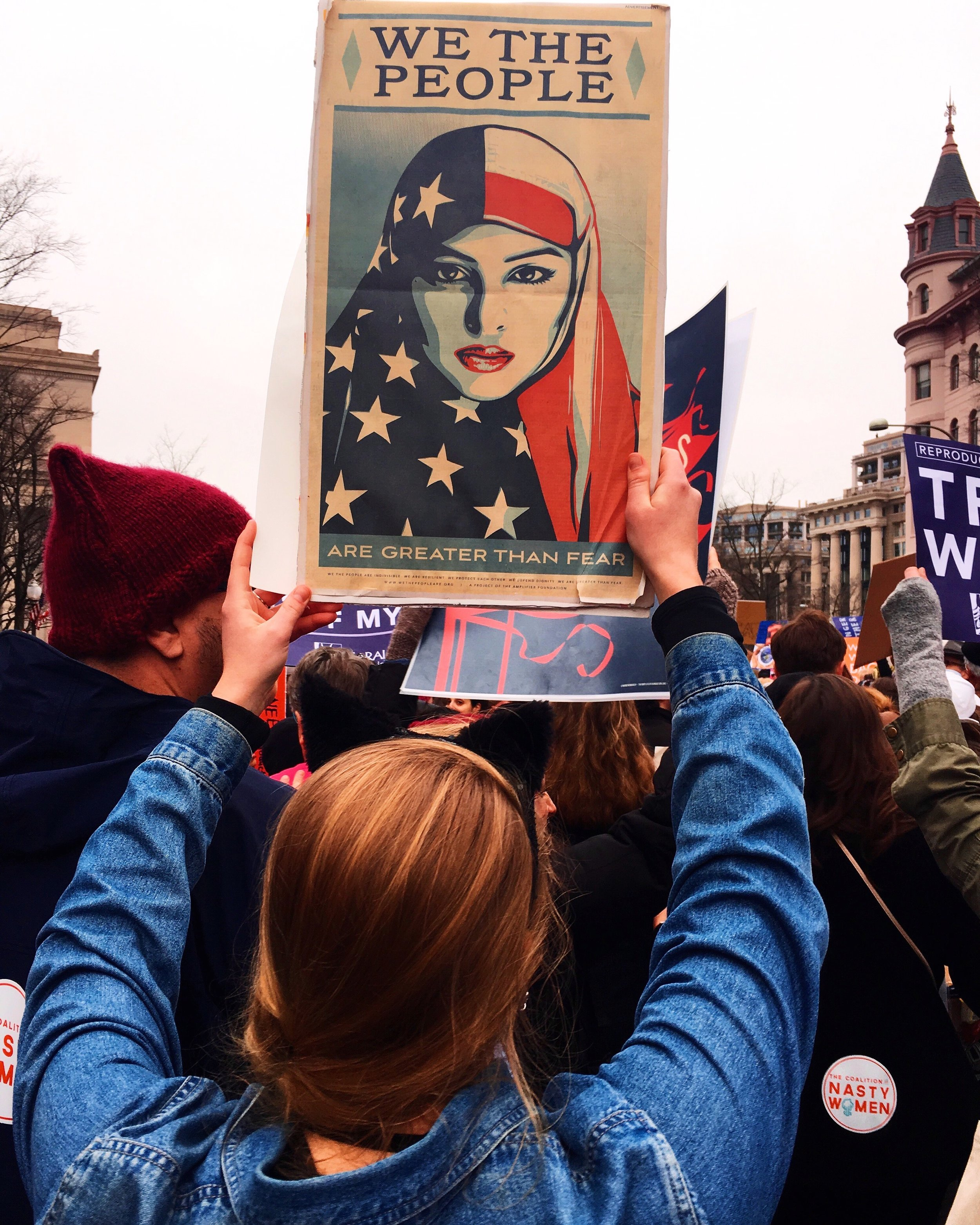 At the Women's March in January 2017