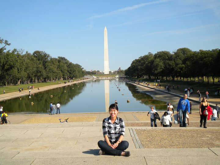 Catherine on her first trip to D.C.
