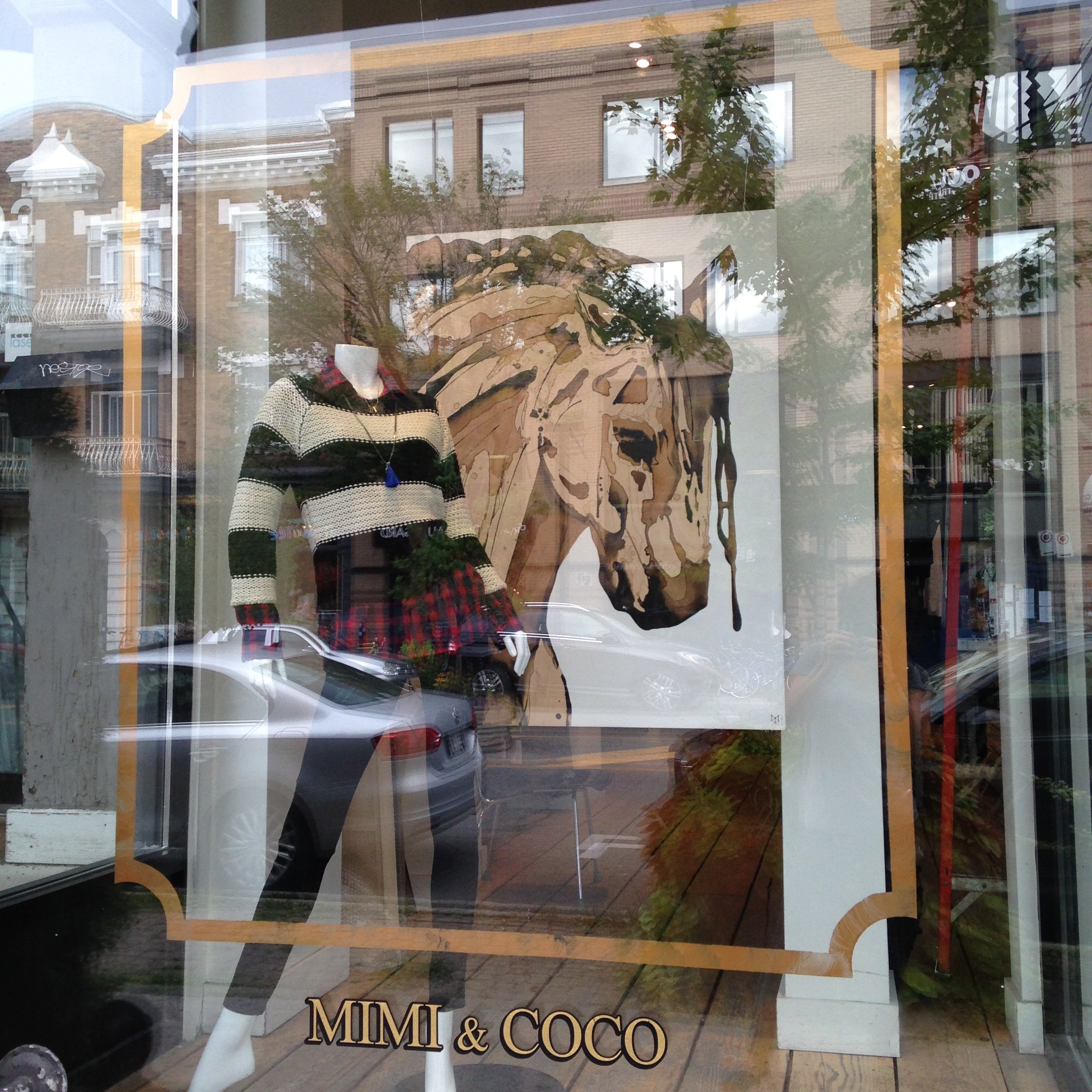 """Hero"" exposed at Mimi & Coco on Laurier Avenue (2014), where Cavalia first discovered my work."