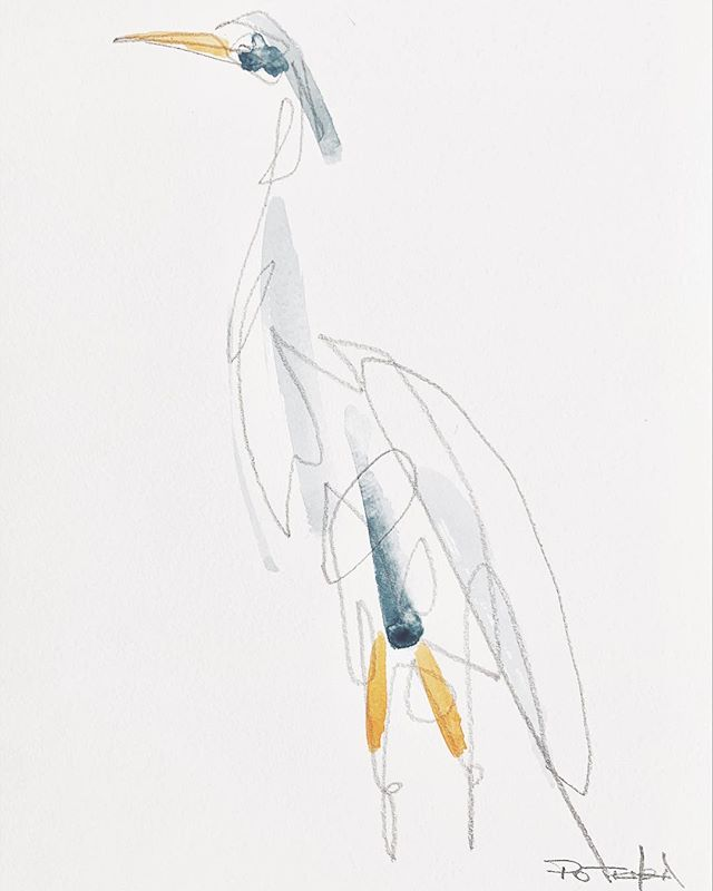 Paper cranes 〰️〰️〰️ . . . . . . . . . #jessicapotenza #crane #bird #sketch #create #art #linedrawing #onelinedrawing #watercolour #mixedmedia #wallart #collectart #fineart #drawing #canadianart #