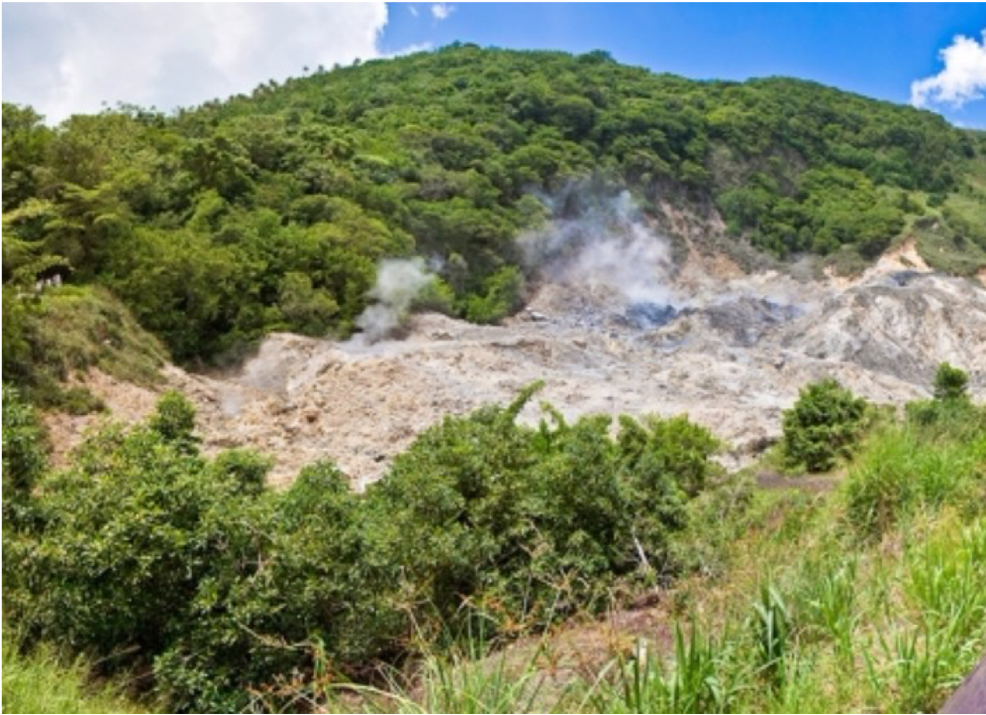 SULPHUR SPRINGS   The Caribbean's only drive-in volcano, where visitors can learn about the formation of volcanic craters as well as the therapeutic properties of sulphur mud and mineral waters.
