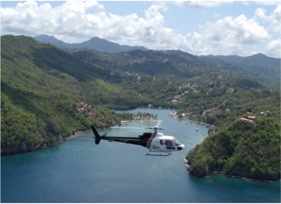 ST LUCIA HELICOPTERS   There is no better way to see the breathtaking scenery of St Lucia that aboard a helicopter; it's a once in a lifetime experience! Your pilot's informative and lively commentary will bring to life the past of present of St Lucia, helping to create an experience which you won't soon forget.