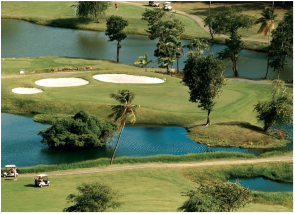 ST LUCIA GOLF AND COUNTRY CLUB   Located on the hills of the Cap Estate, in the north of the island, this stunning 18-hole, par-71 course is one of the most challenging rounds in the Caribbean.