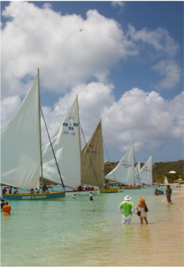 SAILING AND BOAT RACING   Sailing in Anguilla has a long and deep history, firmly rooted in the history of the island itself. The tradition started in the early 1900's when, due to a declining economy, Anguillan were forced to sail to neighbouring island for weeks or months at a time to find work in order to provide for their family. Overtime, the sailors on their way back to Anguilla started racing each other, unknowingly creating a tradition that would not only live on, but also anchor itself deep into the island's cultural identity.