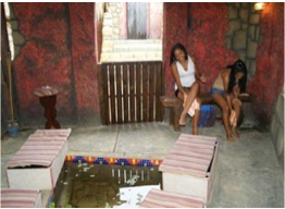 WELZIJN SPA   The only Garra Ruffa feet treatment Spa in the Caribbean. Relax your feet in a pool of hot spring water filled with hundreds of Garra Ruffa fish rejuvenating your feet by ridding you of any dead skin.