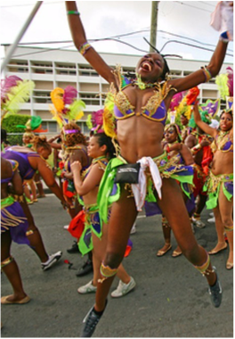 ANTIGUA CARNIVAL - JULY-AUGUST   The last weekend of July and the first week of August bring together people from all across the island and tourists alike in an array of colourful costumes, beauty pageants, talent shows, and great music. In 1957, the Old Time Christmas Festival was replaced by the Antiguan and the Barbudan Carnivals to help boost tourism, although some elements of the Christmas Festival still remain in the modern Carnival celebrations.
