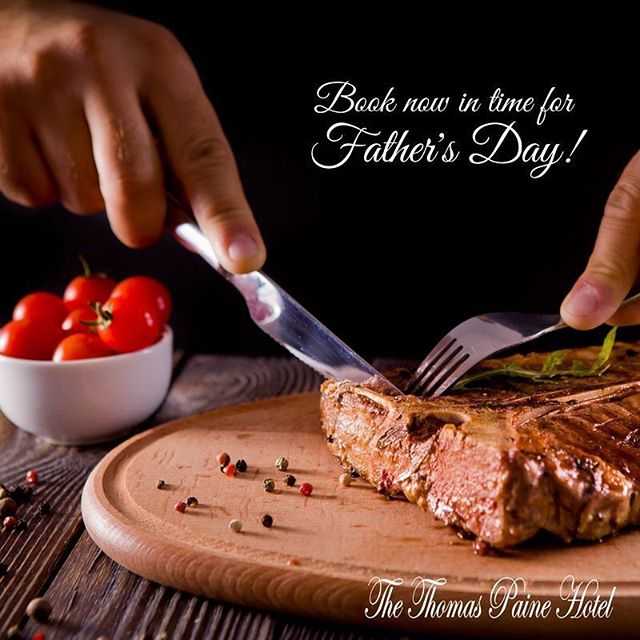 Whose dad needs a treat!?🍴Celebrate Father's Day with us here at the Thomas Paine Hotel on 17th June, and all Dads will receive a free 12oz Rump Steak with all the trimmings!😍 (minimum of 4 people). What could be better!?