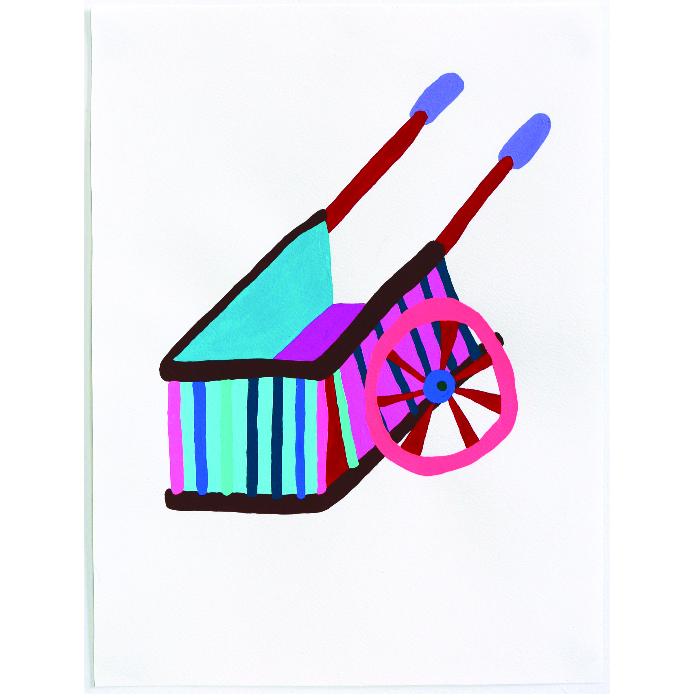Witch Cart (Tool of Gallows)   11 x 14 inches, 2016