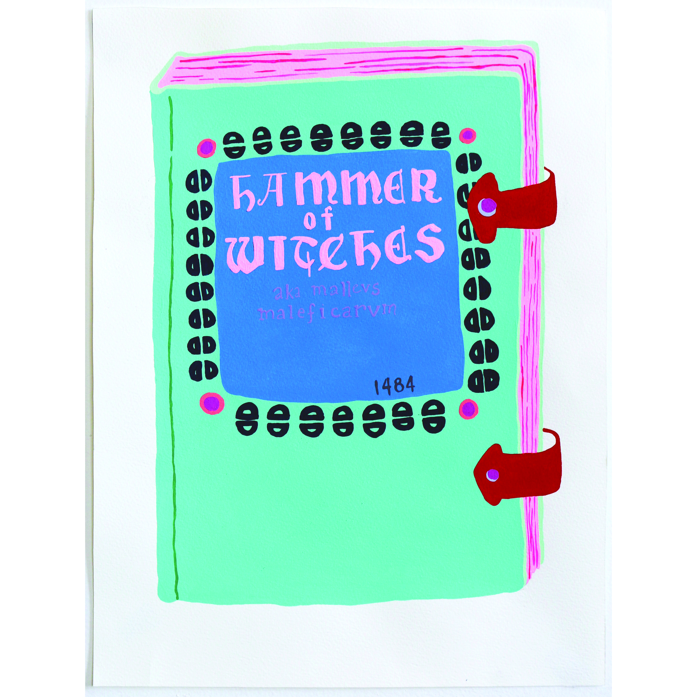 Witch Hunter's Manual, 1484   11 x 14 inches, 2016