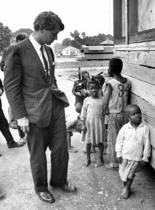 "Robert F. Kennedy during his Eastern Kentucky ""Poverty Tour"" in 1968"