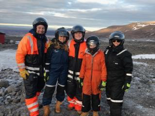 Family Photo at the Glacier Tou r