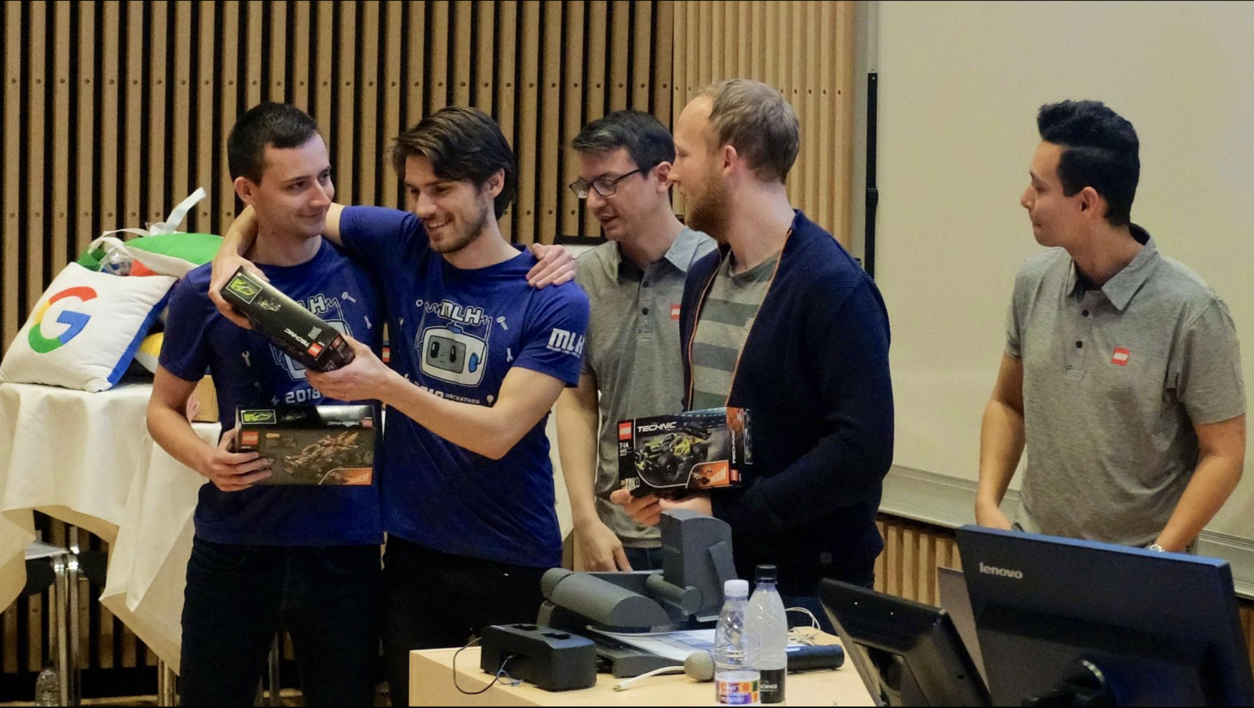 We were 1st place in the LEGO Education category and 2nd place for the overall hackathon.