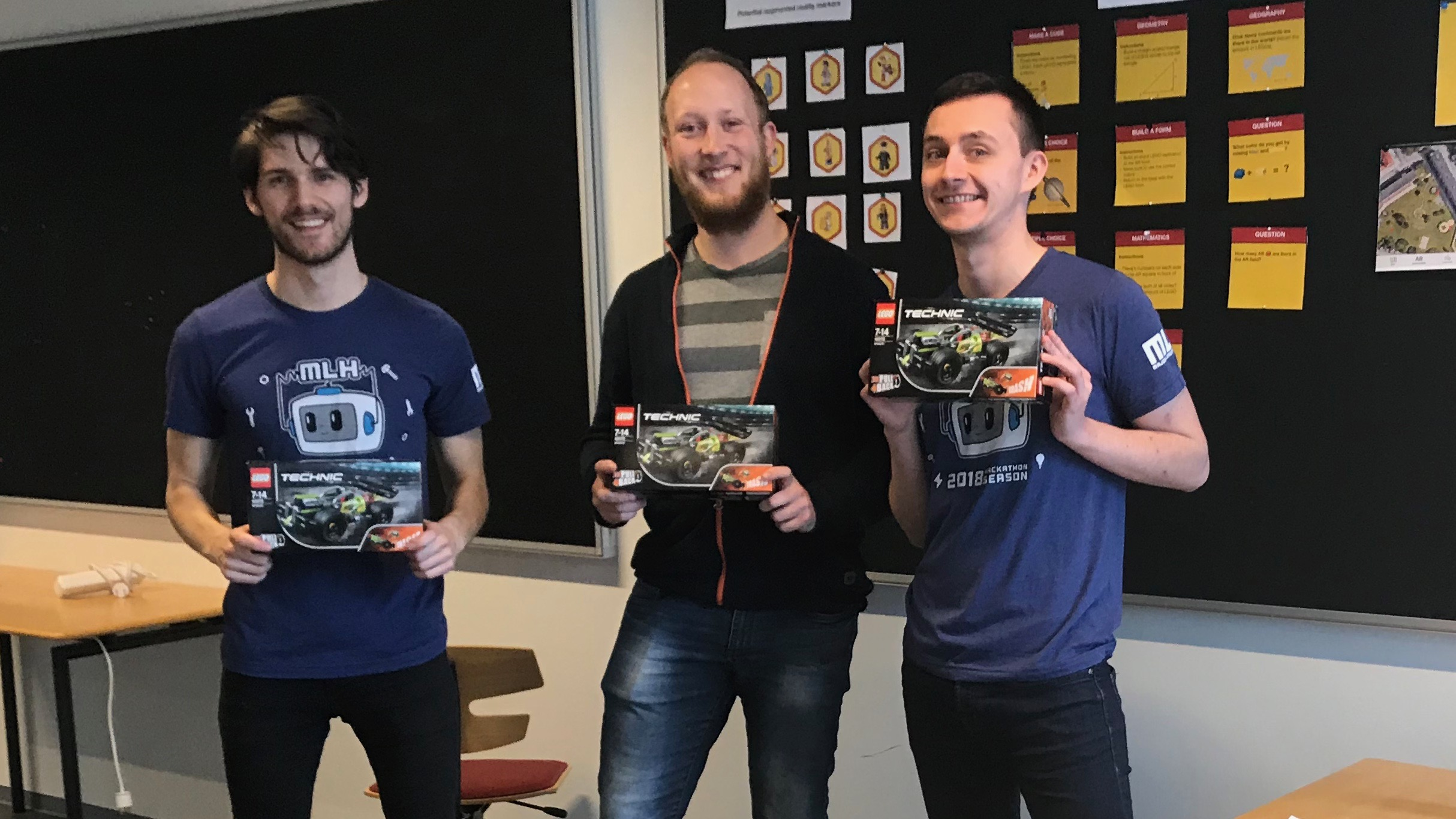From left to right: Me, Nicolai Bonde (Electroengineer), Mikkel Jensby (IT & Product Development).