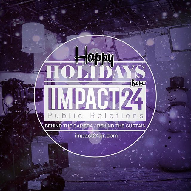 Happy Holidays from the team at Impact24 PR! Looking forward to making an IMPACT with you in the New Year. #Impact24PR