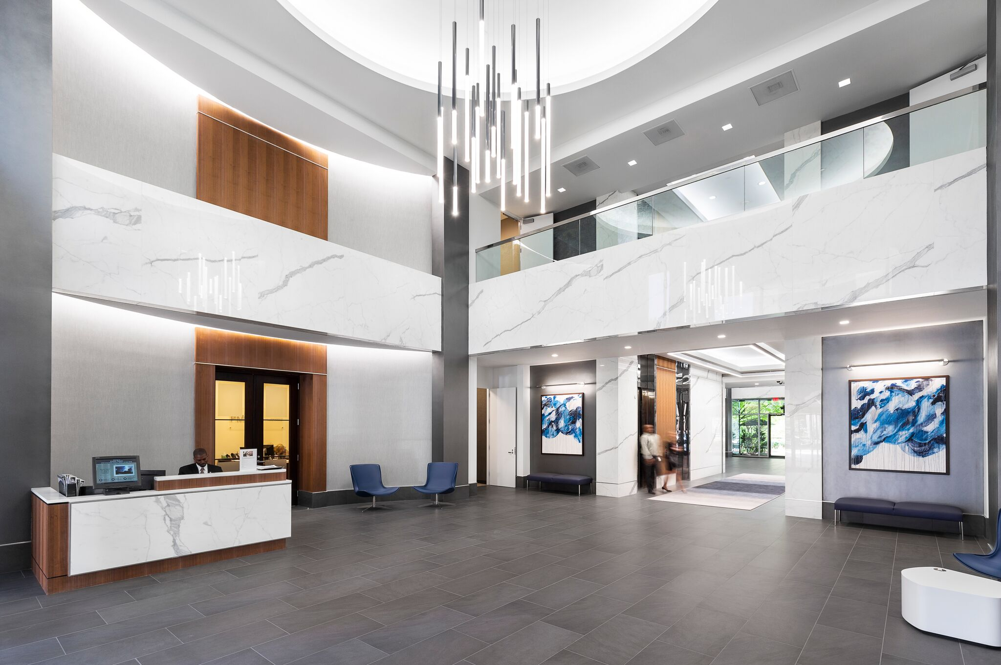 Recently completed lobby renovation